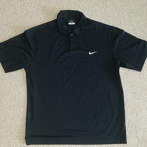 Nike golf Dri-Fit black polo size large